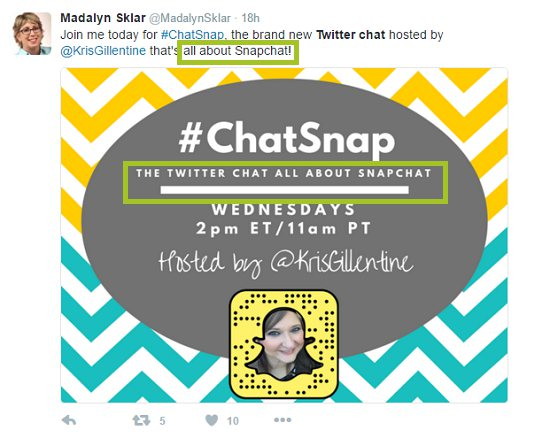 screenshot of twitter chat about snapchat