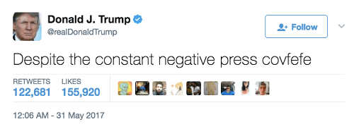 screenshot of Donald Trump's tweet